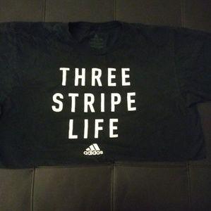 Three Stripe Life Adidas Tee